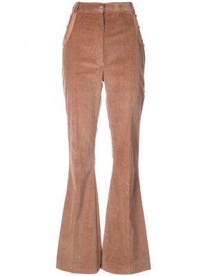 Расклешенные брюки с завышенной талией Nina Ricci. Цвет: коричневый