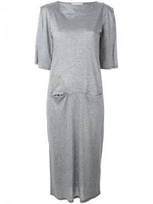 Длинное платье Facetasm. Цвет: серый