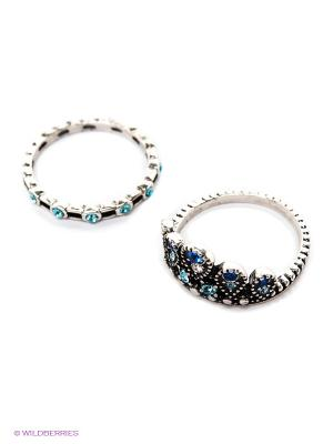 Кольцо (2 шт.) Royal Diamond. Цвет: синий, серебристый