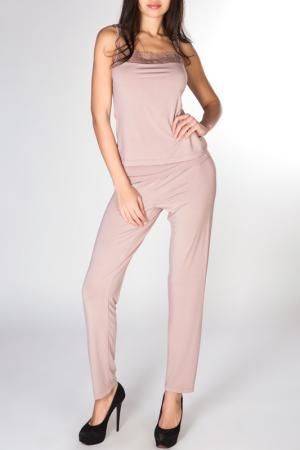 Брюки домашние Rose&Petal Homewear. Цвет: розовое дерево