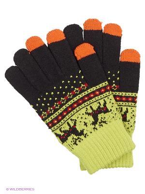 Перчатки для сенсорных экранов TERRITORY. Цвет: желтый, коричневый