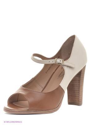 Туфли Francesco Donni. Цвет: коричневый, молочный