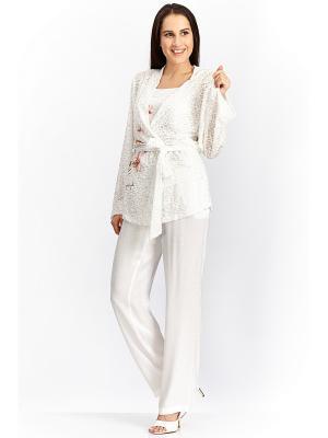 Пижама с брюками тройка RELAX MODE. Цвет: кремовый