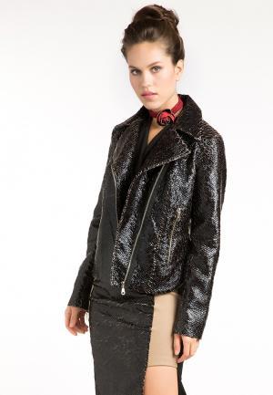 Куртка кожаная YuliaSway Yulia'Sway. Цвет: черный