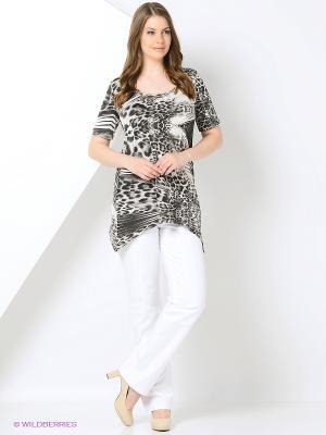 Блузка BERKANA. Цвет: серый, черный
