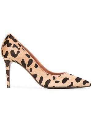 Туфли-лодочки с анималистическим принтом LAutre Chose L'Autre. Цвет: чёрный
