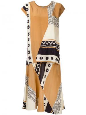 Платье с принтом Nehera. Цвет: многоцветный