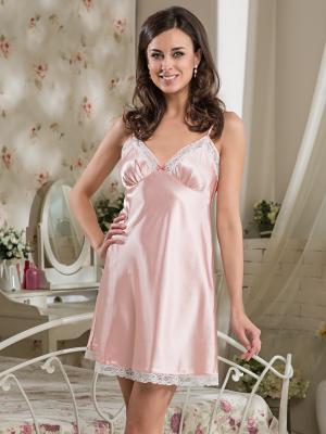 Сорочка MIA-DIVA. Цвет: бледно-розовый