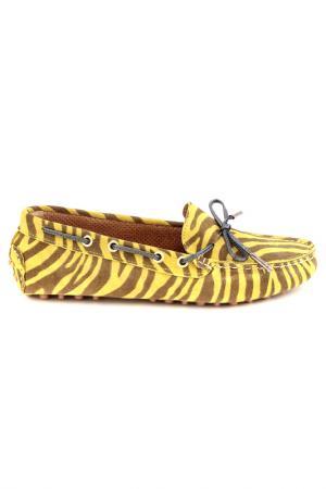 Мокасины Elena. Цвет: желтый, зебра