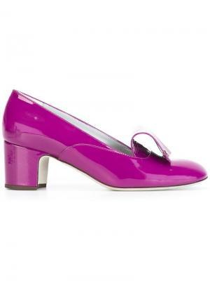 Туфли-лодочки Flaminia Rayne. Цвет: розовый и фиолетовый