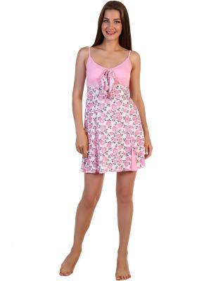 Ночная сорочка Соцветие Vilana. Цвет: розовый, белый