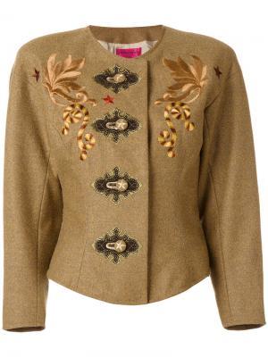 Жакет с вышивкой Christian Lacroix Vintage. Цвет: коричневый