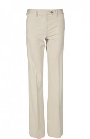 Расклешенные брюки с завышенной талией Kiton. Цвет: бежевый