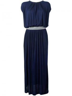 Belted maxi dress Bellerose. Цвет: синий