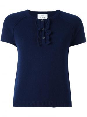 Вязаная футболка Allude. Цвет: синий