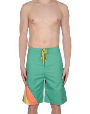 Шорты для плавания 55DSL. Цвет: зеленый