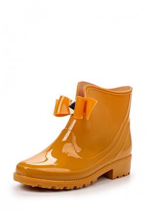 Резиновые полусапоги Sweet Shoes. Цвет: оранжевый