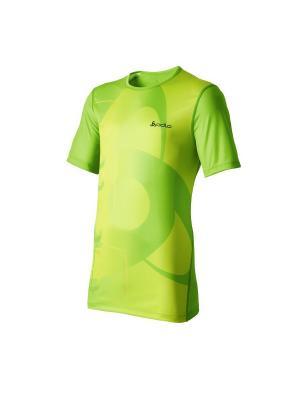 Футболка Odlo. Цвет: зеленый
