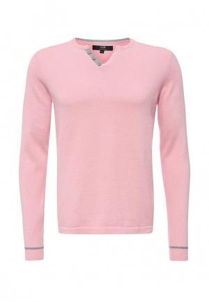 Пуловер oodji. Цвет: розовый