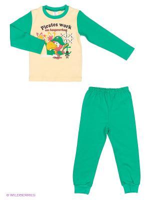 Пижама PEPELINO. Цвет: зеленый, бежевый