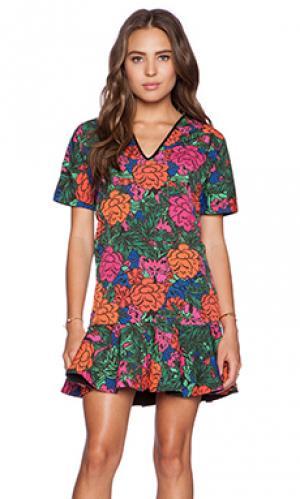 Мини-платьес цветочным рисунком esma Casper & Pearl. Цвет: розовый