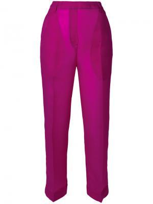 Укороченные брюки с завышенной талией Christian Wijnants. Цвет: розовый и фиолетовый