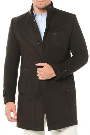 Пальто Dewberry. Цвет: коричневый