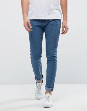 Only & Sons Голубые джинсы скинни. Цвет: синий