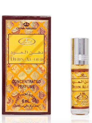 Арабские масляные духи Ден Аль-Уд (Dehn Al-Oud), 6 мл Al Rehab. Цвет: темно-бежевый, белый, горчичный