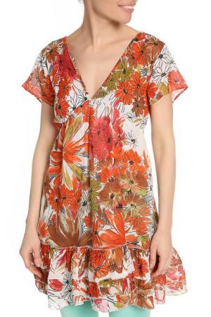 Платье-туника AYFEE. Цвет: рыжий, коричневый