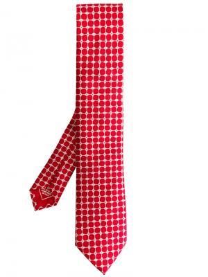 Галстук с принтом Brioni. Цвет: красный