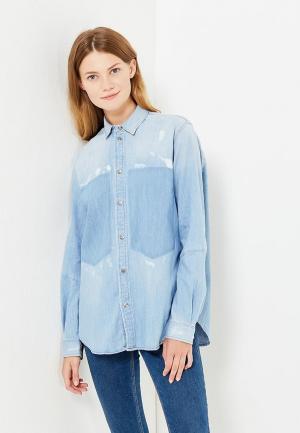 Рубашка джинсовая G-Star. Цвет: голубой