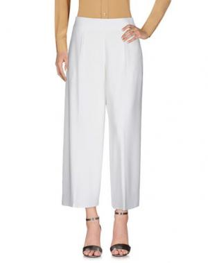 Повседневные брюки ELISABETTA FRANCHI. Цвет: белый