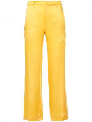 Расклешенные брюки Tome. Цвет: жёлтый и оранжевый