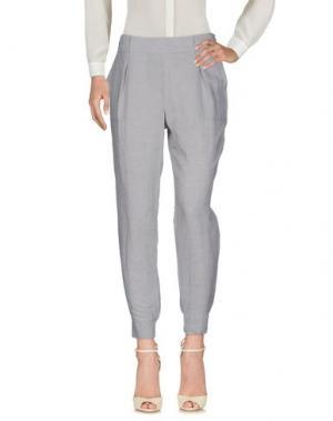 Повседневные брюки LORENA ANTONIAZZI. Цвет: светло-серый