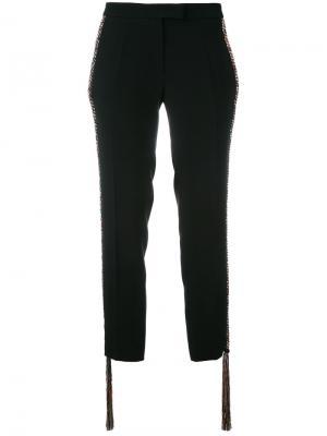 Укороченные брюки Marco De Vincenzo. Цвет: чёрный