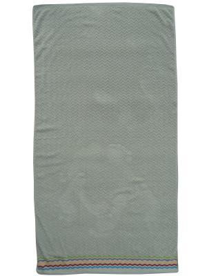 Полотенце банное A and C Collection. Цвет: зеленый