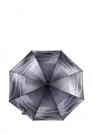 Зонт-трость Fabretti. Цвет: серый