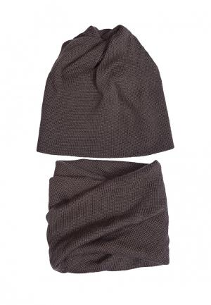 Комплект шапка и шарф FreeSpirit. Цвет: хаки