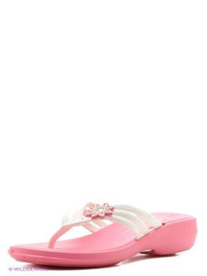 Шлепанцы Дюна. Цвет: розовый, белый