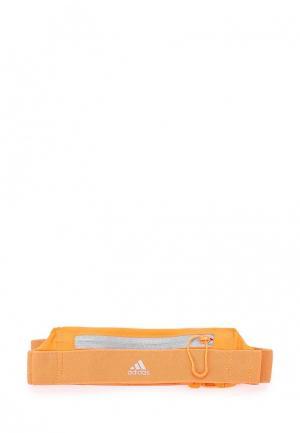 Пояс для бега adidas. Цвет: оранжевый