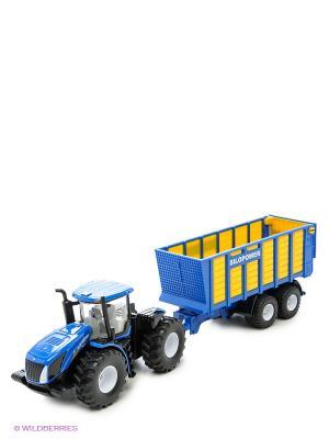 Трактор с прицепом SIKU. Цвет: синий