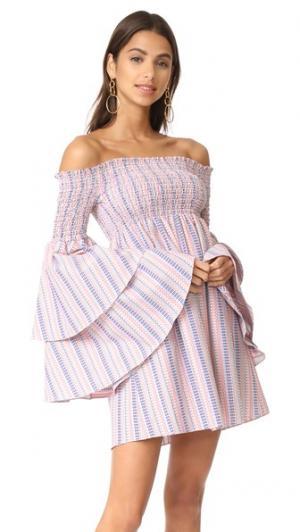 Платье Appolonia Caroline Constas. Цвет: красный