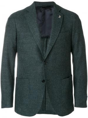 Классический пиджак Tombolini. Цвет: синий