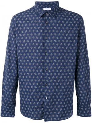 Рубашка с цветочным принтом Boglioli. Цвет: синий