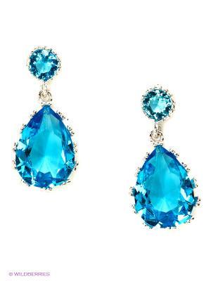 Серьги Royal Diamond. Цвет: голубой