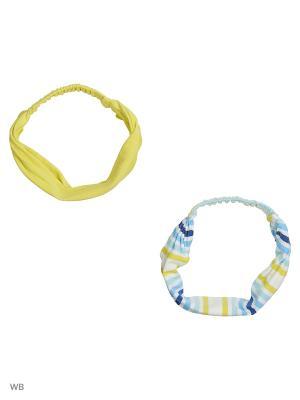 Бандана трикотажная для девочек 2шт в комплекте PlayToday. Цвет: голубой