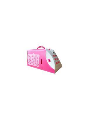 Розовая средняя, (см) 46*26*26 Переноска UP! для кошек и собак. Цвет: розовый