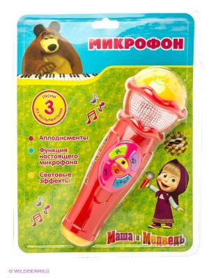 Микрофон Маша и медведь Играем вместе. Цвет: розовый