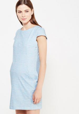 Платье MilkyMama. Цвет: голубой